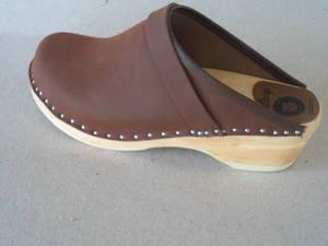 Trätoffel brun original