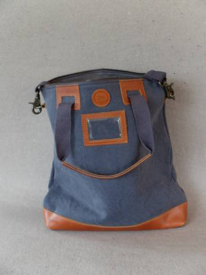 Väska/kanvas/skinn
