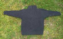 Mörkgrå stickad tröja