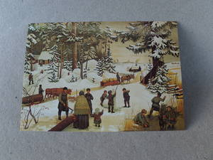 Julkort/Snöaktiviteter