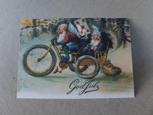 Julkort/Trehjuling