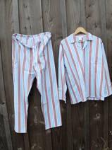 Pyjamas 1 Brun/Ljus Blågrön