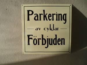 Skylt Parkering